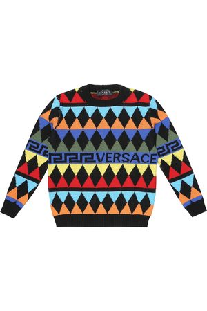 VERSACE Pullover a rombi in lana