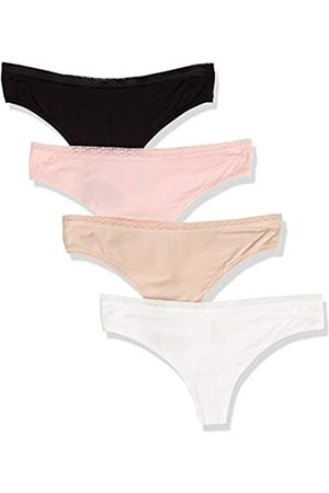 Amazon 4-Pack Modal Thong Underwear, Black/White/ /Pink, US XL