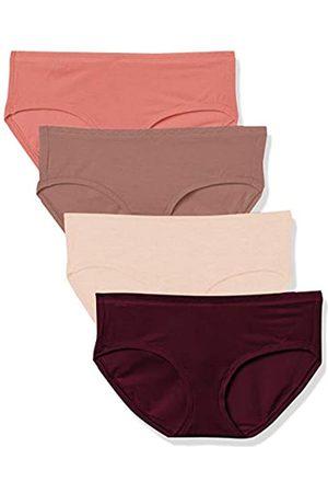 Amazon 4-Pack Modal Hipster Underwear Panties, Dark Purple/Light Purple/Mauve/Light Pink, US M