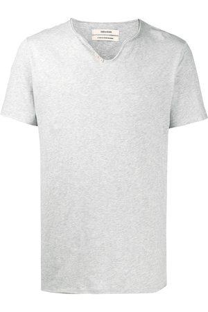 Zadig & Voltaire T-shirt Monastir con collo henley