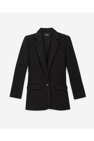 The Kooples Donna Blazer - Buttoned black tweed blazer