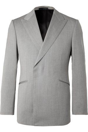 KINGSMAN Conrad Slim-Fit Double-Breasted Herringbone Wool Suit Jacket