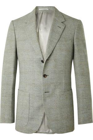 KINGSMAN Conrad Slim-Fit Checked Wool Suit Jacket