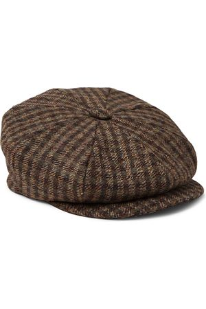 KINGSMAN Lock & Co Hatters Checked Wool-Tweed Flat Cap