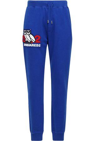 Dsquared2 Pantaloni In Jersey Di Cotone Con Stampa