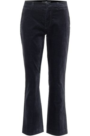 7 for all Mankind Pantaloni flared cropped in velluto