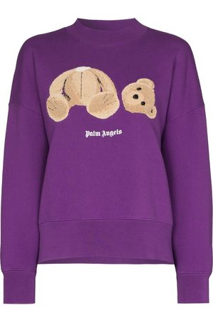 Palm Angels BEAR OVER CREW PURPLE BROW - Di colore