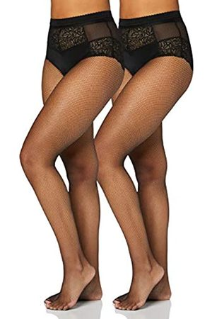 IRIS & LILLY By Wolford Calze Donna, Pacco da 2, , L, Label: L