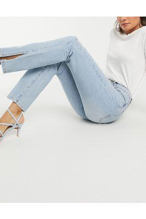 Missguided Jeans dritti a vita alta con spacco laterale