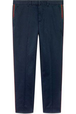 Gucci Pantalone 60's in cotone con dettaglio Web