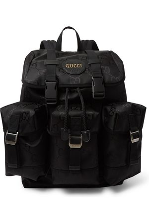 Gucci Uomo Zaini - Off the Grid Leather-Trimmed Monogrammed ECONYL Canvas Backpack