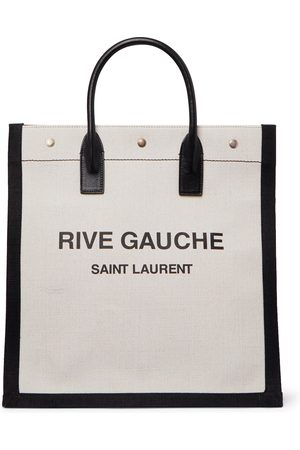 Saint Laurent Uomo Portafogli e portamonete - Noe Logo-Print Leather-Trimmed Canvas Tote Bag