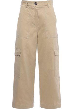 Max Mara Pantaloni Cargo In Twill Di Cotone