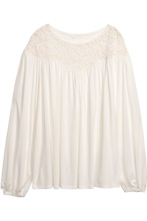 H&M Top con carré in pizzo
