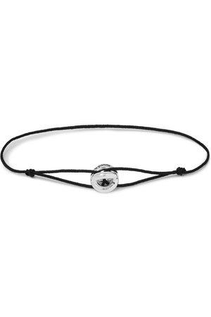Le Gramme Uomo Bracciali - Sterling Silver and Cord Bracelet