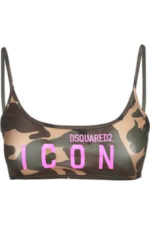 Dsquared2 Top A Fascia In Jersey Con Logo