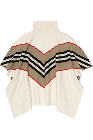 Burberry Donna Giacche - Poncho in lana e cashmere