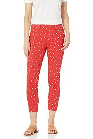 Amazon Pull-on Knit Capri Jegging Pants, Corallo Floreale a Pois, Small Long