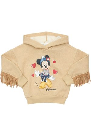 "MONNALISA Felpa ""minnie"" In Lurex Stampato"