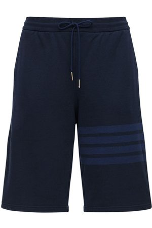Thom Browne Shorts In Felpa Di Cotone
