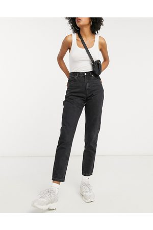 Dr Denim Nora - Mom jeans a vita alta neri