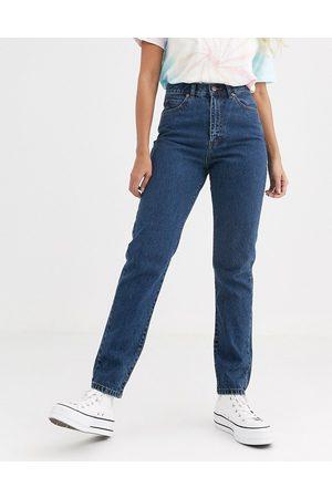 Dr Denim Nora - Mom jeans a vita alta lavaggio medio rétro