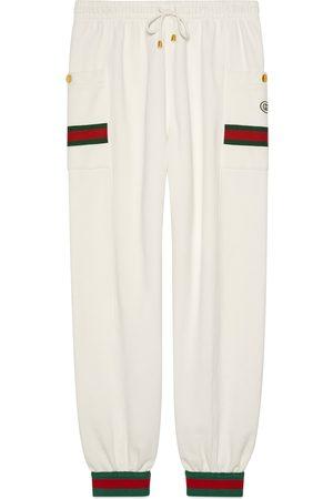 Gucci Pantalone da jogging in jersey con nastro Web