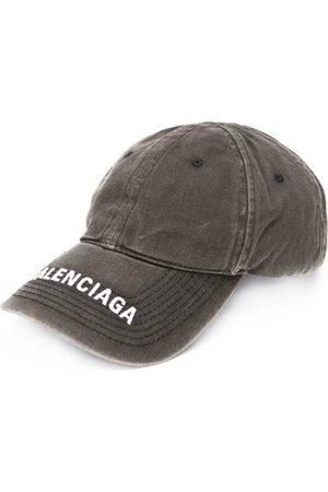 Balenciaga Embroidered logo denim cap - Di colore