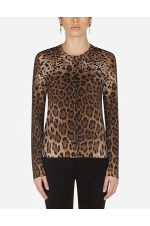 Dolce & Gabbana Collection - CARDIGAN IN LANA STAMPA LEOPARDO