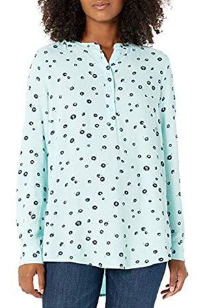 Amazon Camicetta in Tessuto a Maniche Lunghe. Dress-Shirts, Aqua Poppy, US L