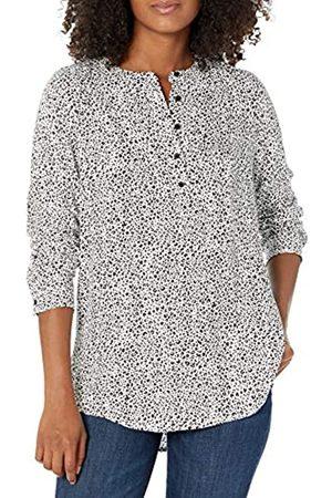 Amazon Camicetta in Tessuto a Maniche Lunghe. Dress-Shirts, Mini Leopardo, US XL