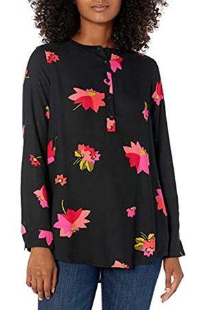 Amazon Camicetta in Tessuto a Maniche Lunghe. Dress-Shirts, Motivo Floreale e , US L