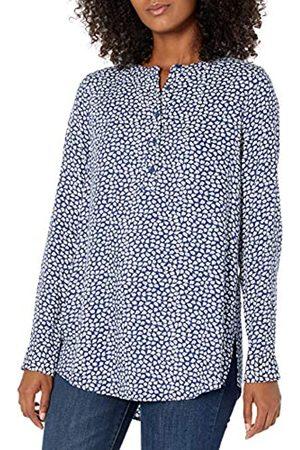 Amazon Camicetta in Tessuto a Maniche Lunghe. Dress-Shirts, Petalo Marino, US L
