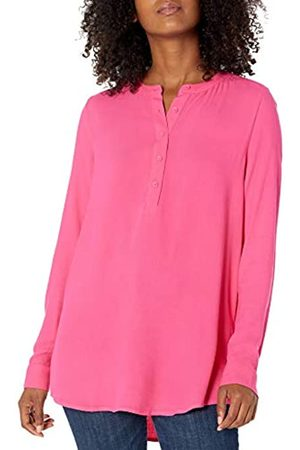 Amazon Camicetta in Tessuto a Maniche Lunghe. Dress-Shirts, Brillante, US M