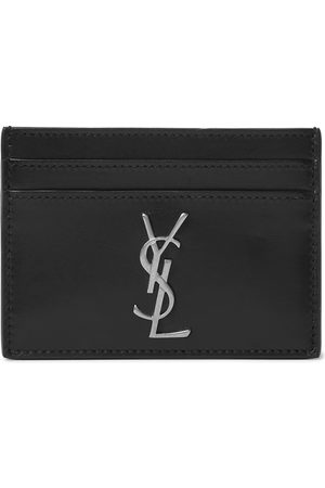Saint Laurent Logo-Appliquéd Leather Cardholder