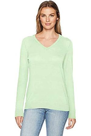 Amazon Maglione Leggero con Scollo a V. Pullover-Sweaters, Menta Brillante, US L