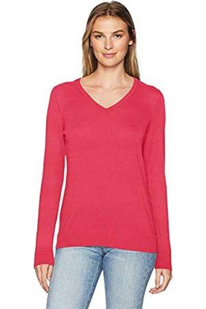 Amazon Maglione Leggero con Scollo a V. Pullover-Sweaters, Brillante, US