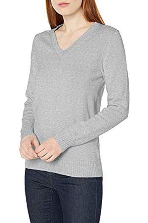 Amazon 100% Cotone a Maniche Lunghe con Scollo a V Pullover-Sweaters, Erica, Chiaro, US M