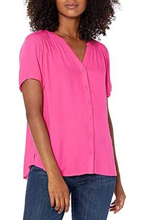 Amazon Camicetta in Tessuto a Maniche Corte Dress-Shirts, Brillante, US XXL