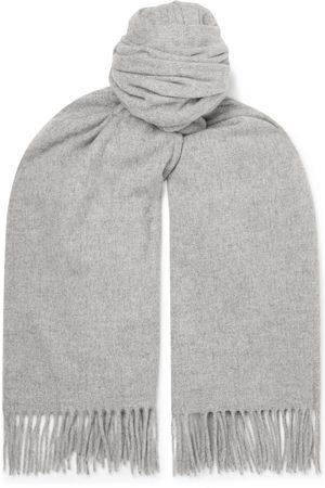 Acne Studios Uomo Sciarpe - Oversized Fringed Melangé Wool Scarf