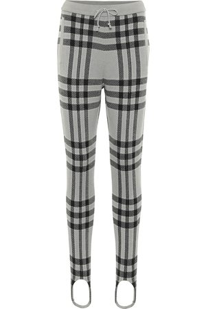 UNDERCOVER Pantaloni a quadri in lana con staffe