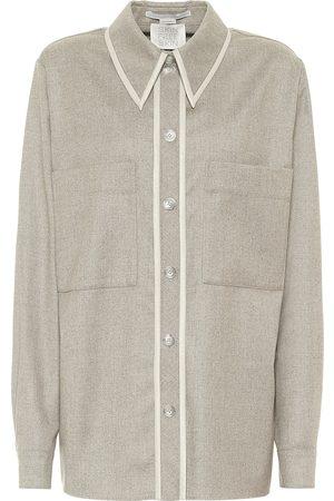 Stella McCartney Camicia Ariel in flanella di lana