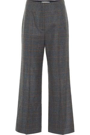 VERONICA BEARD Pantaloni Dova a vita alta in lana cropped