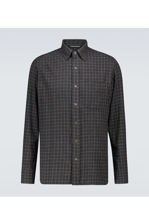 Tom Ford Camicia in flanella di cotone