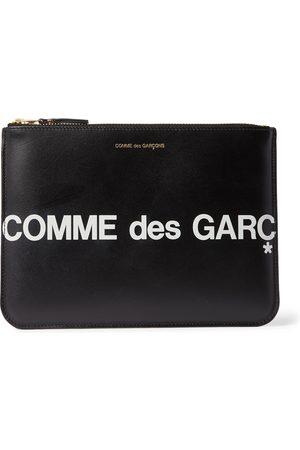 Comme des Garçons Logo-Print Leather Pouch