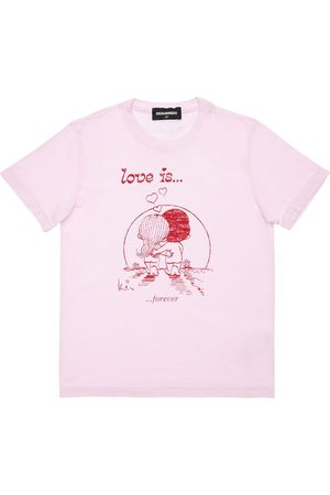 """Dsquared2 T-shirt """"love Is Capsule"""" In Cotone"""