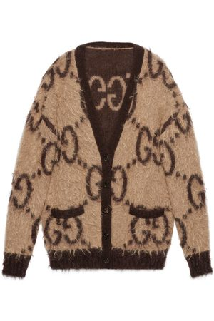 Gucci Donna Cardigan - Cardigan reversibile in lana mohair GG