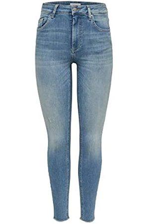 Only OnlBLUSH Mid SK Ank Raw JEA REA1467 Noos Jeans Skinny, Blu , 34W x 34L Donna