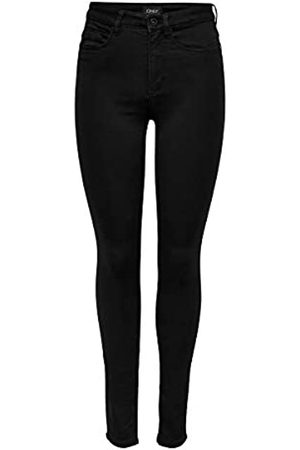 Only Women's Onlroyal High Sk Jeans Pim600 Noos Skinny Jeans, Donna, Nero , 34/XS