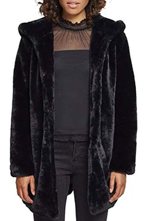 Urban classics Ladies Hooded Teddy Coat Parka Uomo, Nero , X-Small Donna
